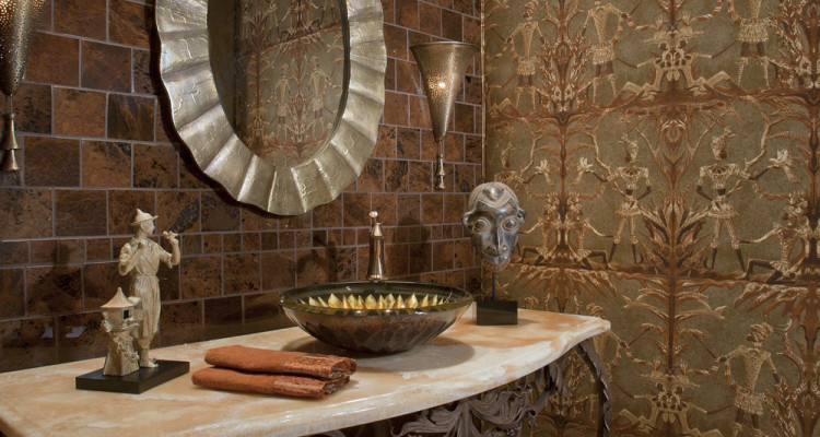Eclectic Powder Room