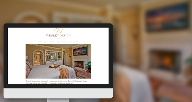 Wesley Design New Website Launch Announcement
