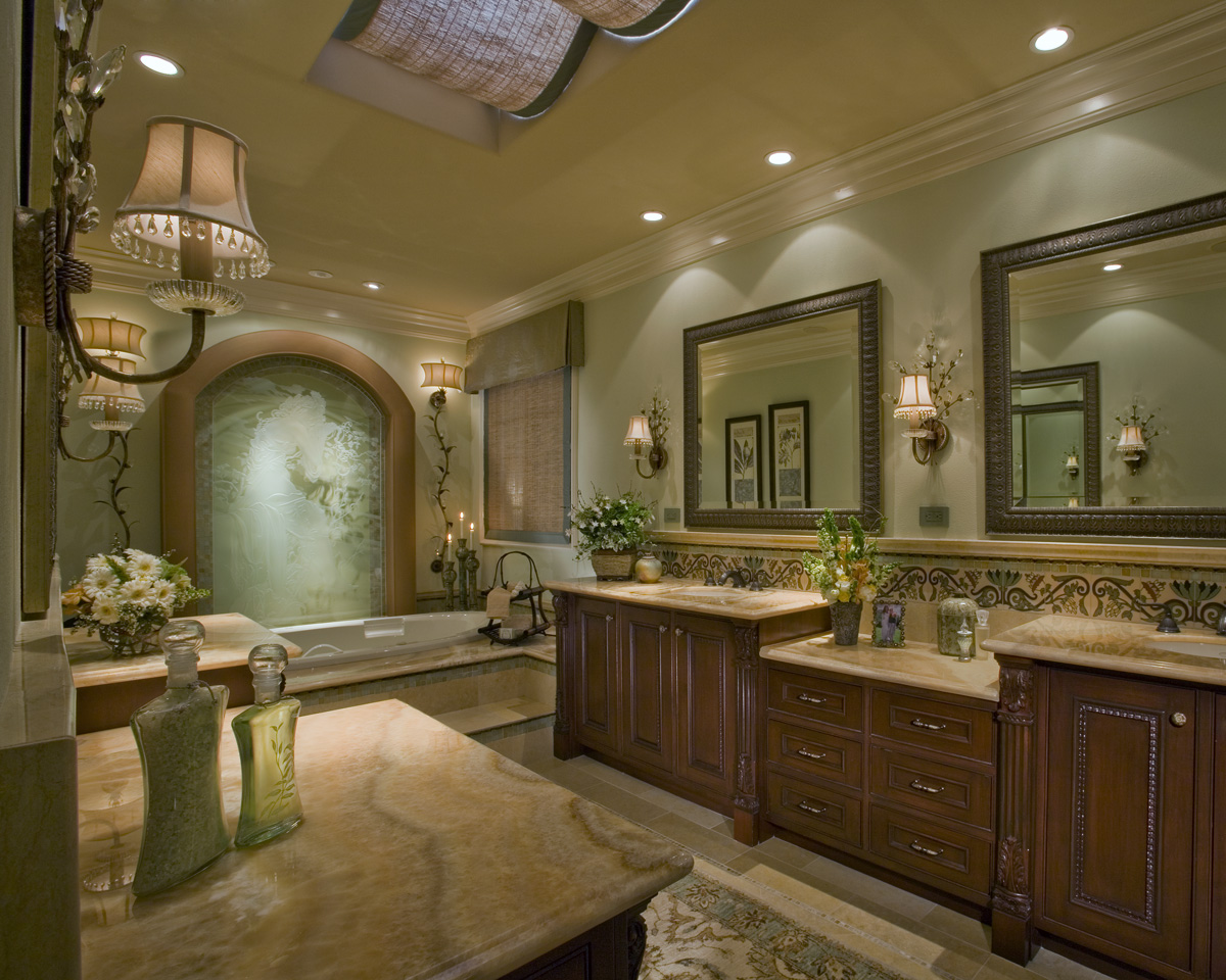 12 Luxurious Bathroom Design Ideas: Nellie Gail Ranch Master Bath